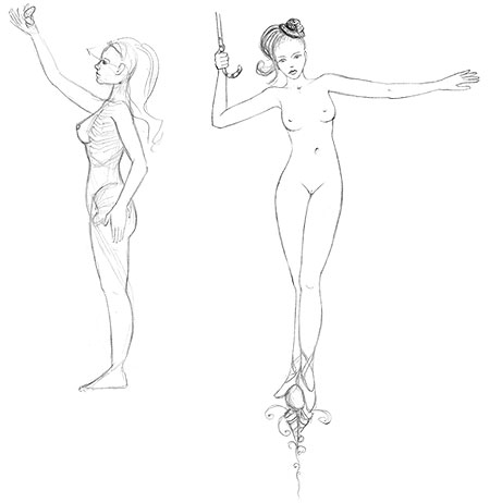 nude girls sketch