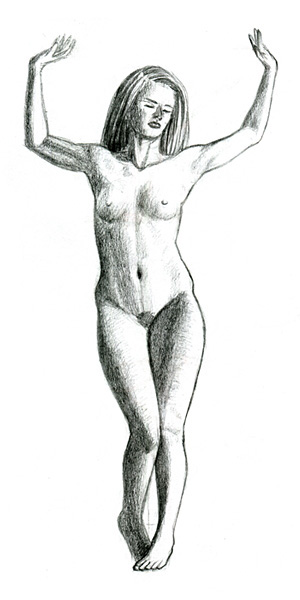 Nude sketch traditional