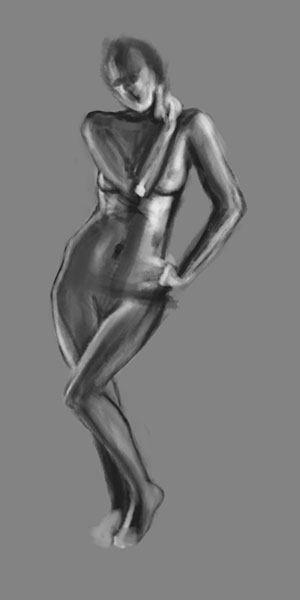 Nude sketch digital
