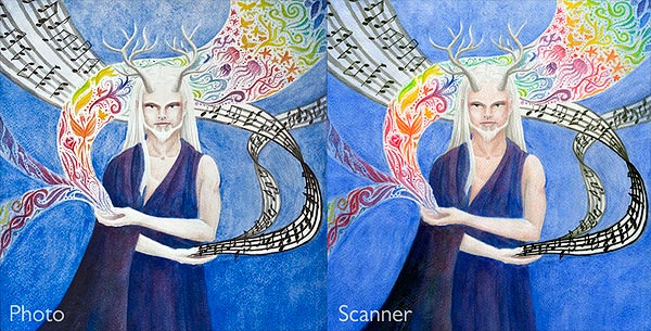 Photo vs. scanner