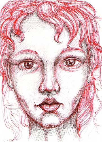 Black And White Sketches Faces. doll face
