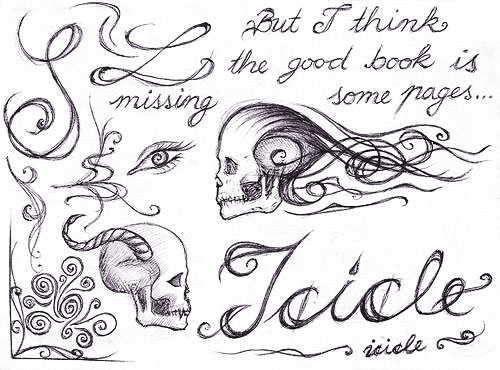 sketchbook page 40 - typography