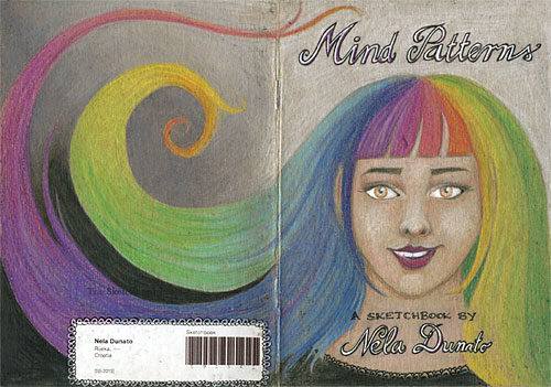 The Sketchbook Project 2013 cover in colored pencils