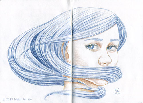 Shame - colored pencil portrait