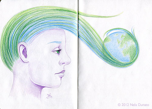 Visionary - colored pencil portrait