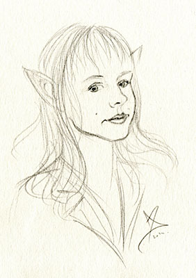 Elf girl sketch