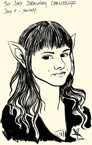 Elf girl selfportrait