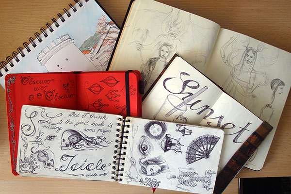 My sketchbooks