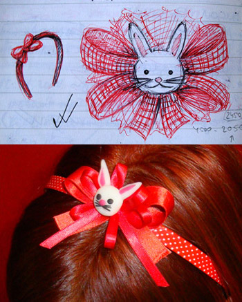 jewelry sketch bunny hairband